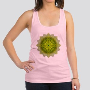 Green Flower Heart Chakra Manda Racerback Tank Top