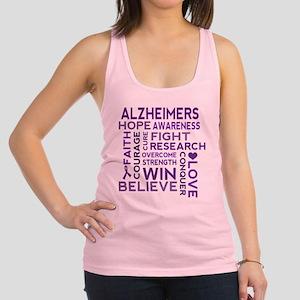 Alzheimers Support Word Cloud Racerback Tank Top