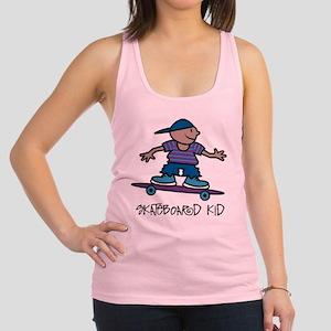 Skateboard Kid Racerback Tank Top