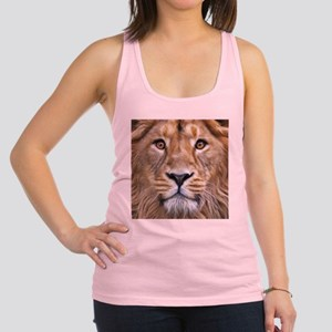 Realistic Lion Painting Racerback Tank Top