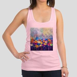 Floral Painting Racerback Tank Top