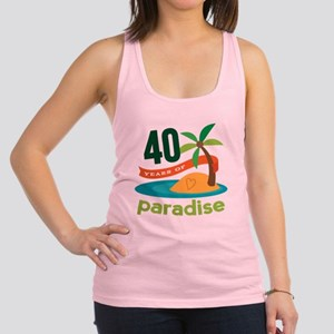40th Anniversary (Tropical) Racerback Tank Top