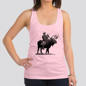 Teddy Roosevelt Riding A Bull Moose Tank Top
