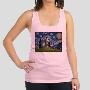Starry Night / Tiger Cat Racerback Tank Top