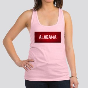 ALABAMA RED and white Racerback Tank Top