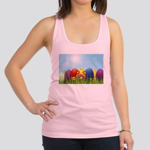 easter eggs Racerback Tank Top