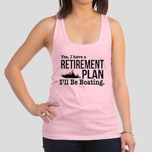 Boating Retirement Racerback Tank Top