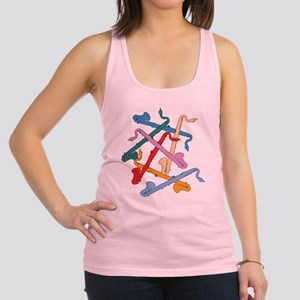 Colorful Bass Clarinets Racerback Tank Top