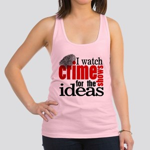 Crime Show Ideas Racerback Tank Top