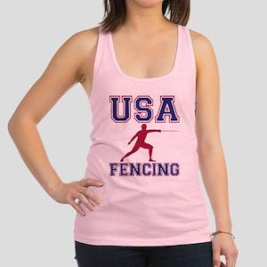 USA Fencing Racerback Tank Top