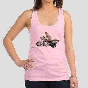 Motorcycle Squirrel Racerback Tank Top