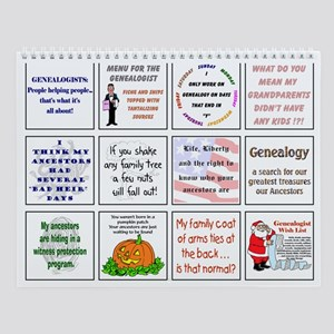 Genealogy For You Wall Calendar