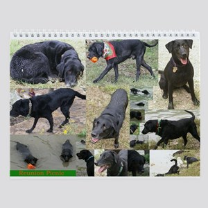 Black & Chocolate Lab Wall Calendar