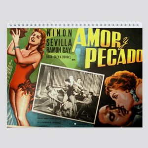 Vintage Mexican Movie Posters Wall Calendar