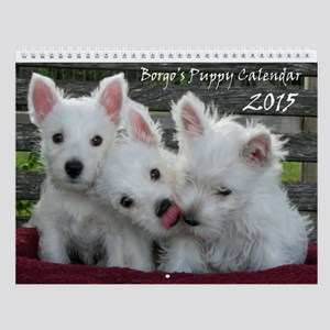 The Borgo Westie Puppy Wall Calendar