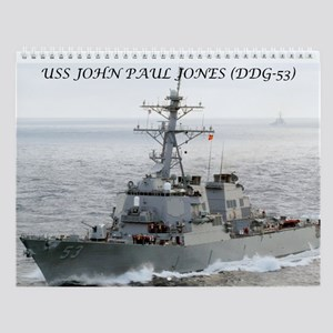 USS JOHN PAUL JONES Wall Calendar