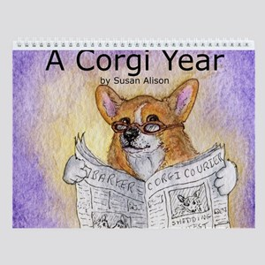 A Corgi Year - Wall Calendar - Captioned