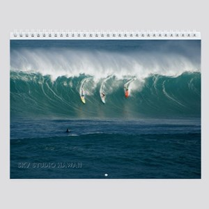 Waimea Bay Big Waves Wall Calendar