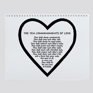Ten Commandments of Love Wall Calendar