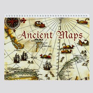 Ancient, Historical World Maps Wall Calendar