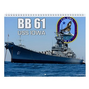 Uss Iowa Battleship Bb-61 Wall Calendar