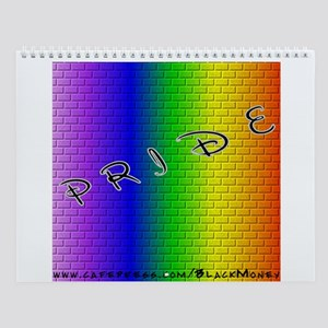 Rainbow Brick Wall Calendar