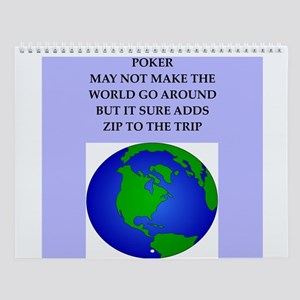 Poker Player Wall Calendar