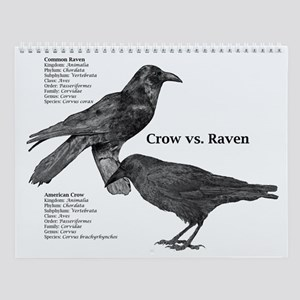 Crow vs. Raven Wall Calendar