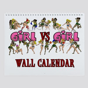 Girl VS Girl 2009 Wall Calendar