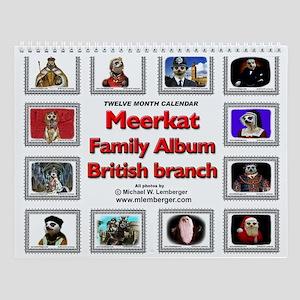 Meerkat Family Album Wall Calendar