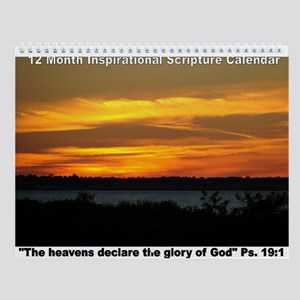 Inspirational Scenery & Scripture Wall Calenda