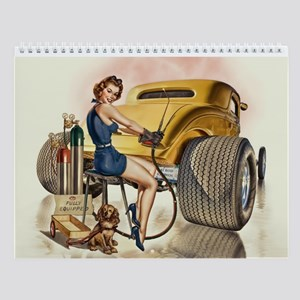 Retro Pinups Hot Rod Wall Calendar