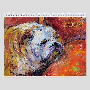 Novikova BULLDOG dog 2009 Wall Calendar