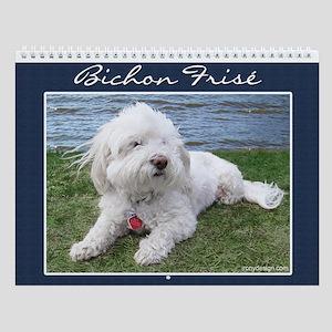 Bichon Frise Dog Wall Calendar