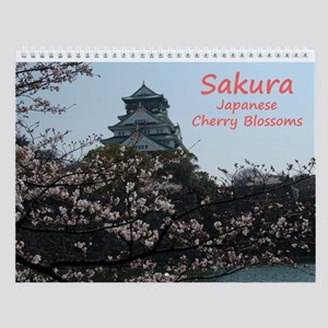 Wall Calendar Sakura Japanese Cherry Blossoms