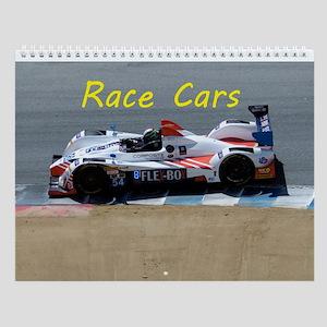 Race Cars Wall Calendar