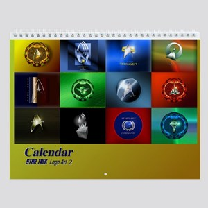 Star Trek Logo Art 2 Wall Calendar