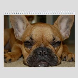 French Bulldog Calendar Wall Calendar