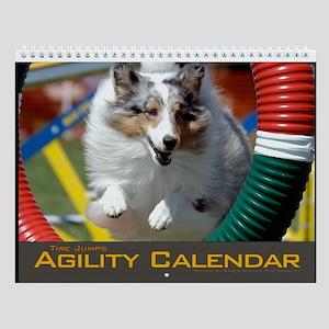 Agility Dog Tire Jump Wall Calendar