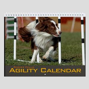 Border Collie Agility Wall Calendar