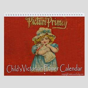 Antique Victorian Child's Primer 12 Wall Calendar