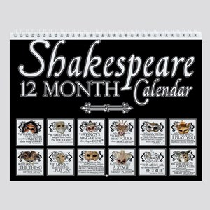 Shakespeare Theatrical Masks Wall Calendar