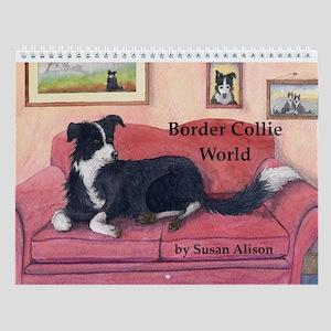Border Collie World Wall Calendar