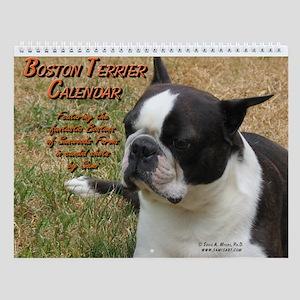 Boston Terrier Wall Calendar by Sami