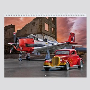 Planes, Trains, And Hot Rods Wall Calendar