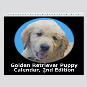 Golden Retriever Puppy Wall Calendar