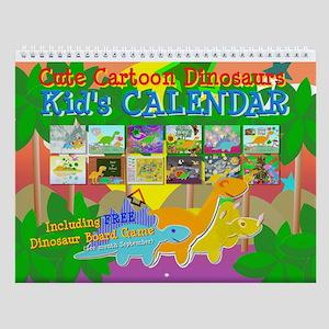 Cute Dinosaurs Wall Calendar for Kids