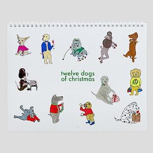 Twelve Dogs Of Christmas Wall Calendar