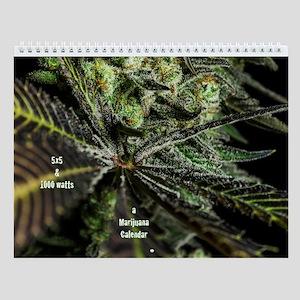 Marijuana Plants A Wall Calendar
