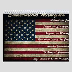 Conservative Manifesto Wall Calendar